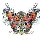 butterfly girl by Derek Mullins