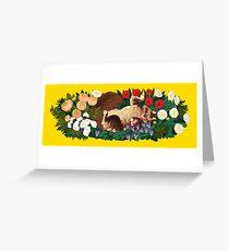 Cat Garden Greeting Card