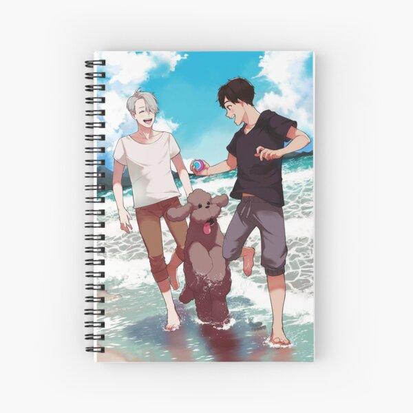 Beach day with Makkachin Spiral Notebook