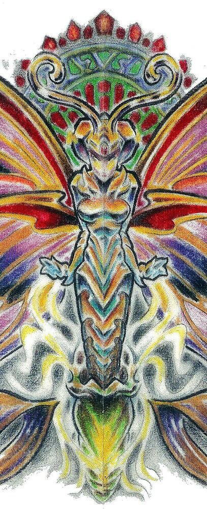"detail of ""Butterfly girl"" by Derek Mullins"