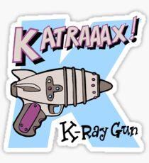 Raygun K Sticker