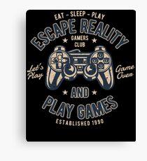 Escape Reality Play Games Retro Vintage Distressed Design Canvas Print