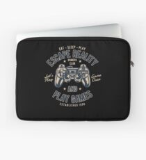 Escape Reality Play Games Retro Vintage Distressed Design Laptop Sleeve