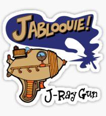 Raygun J Sticker