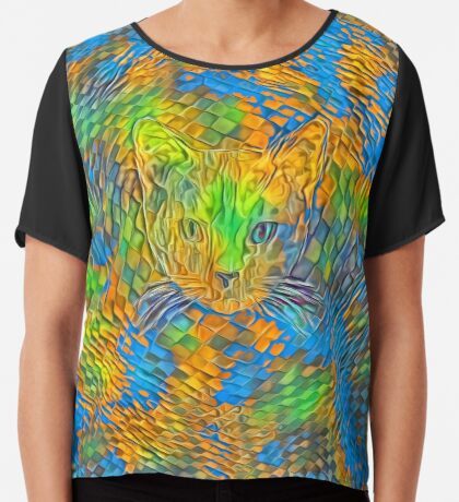 Cat. Every day is Earth Day. Chiffon Top