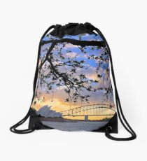 Sunset over Sydney Harbour, Australia Drawstring Bag