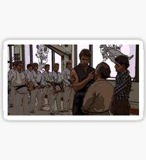 Karate Kid Dojo Sticker  Sticker