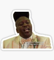 Titus Burgess homosexual panic attack Sticker