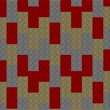 Red Lego Tan Lego Grey Lego by bxbrix