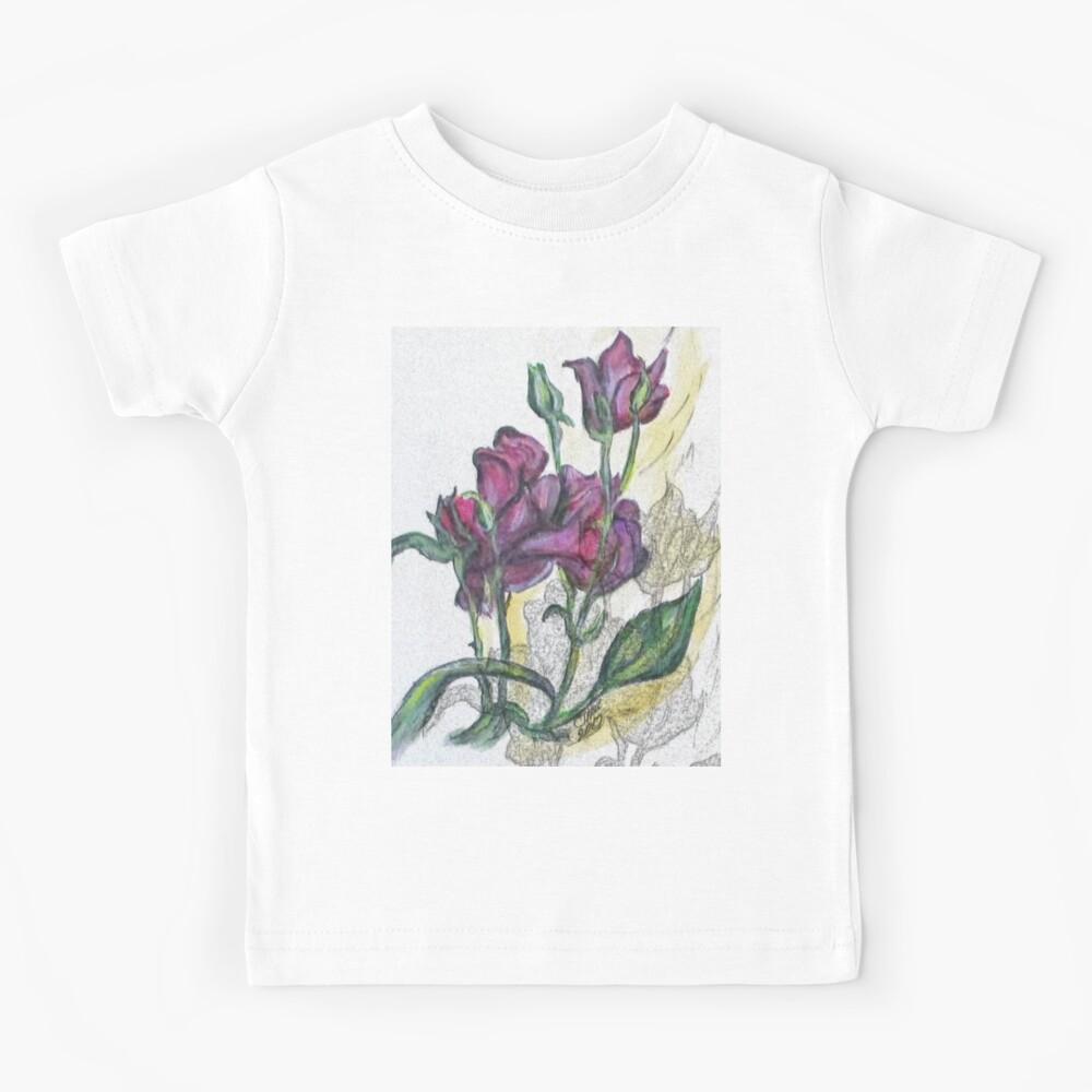 Kimberly's Spring Flower Digital Enhanced Kids T-Shirt