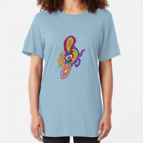 Abstract Spin-thingy Slim Fit T-Shirt
