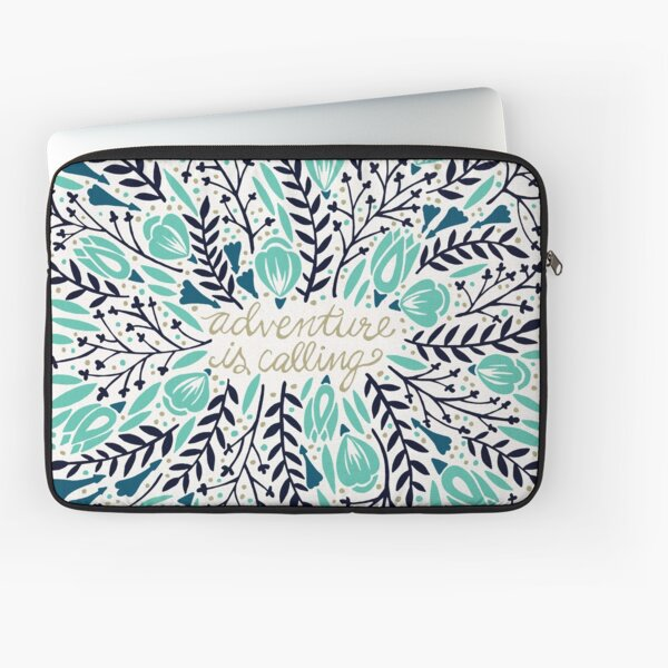 Adventure is Calling – Navy & Mint Palette Laptop Sleeve