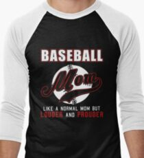 baseball mom louder and prouder mens baseball t shirt - Baseball T Shirt Designs Ideas