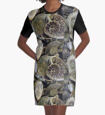 Ammonites Forever (pattern) Graphic T-Shirt Dress