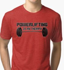 Powerlifting Therapy Tri-blend T-Shirt