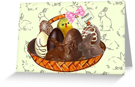 Chocolate Easter egg Card ( 3827  Views) by aldona