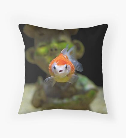 Gold Fish Nightmare Throw Pillow