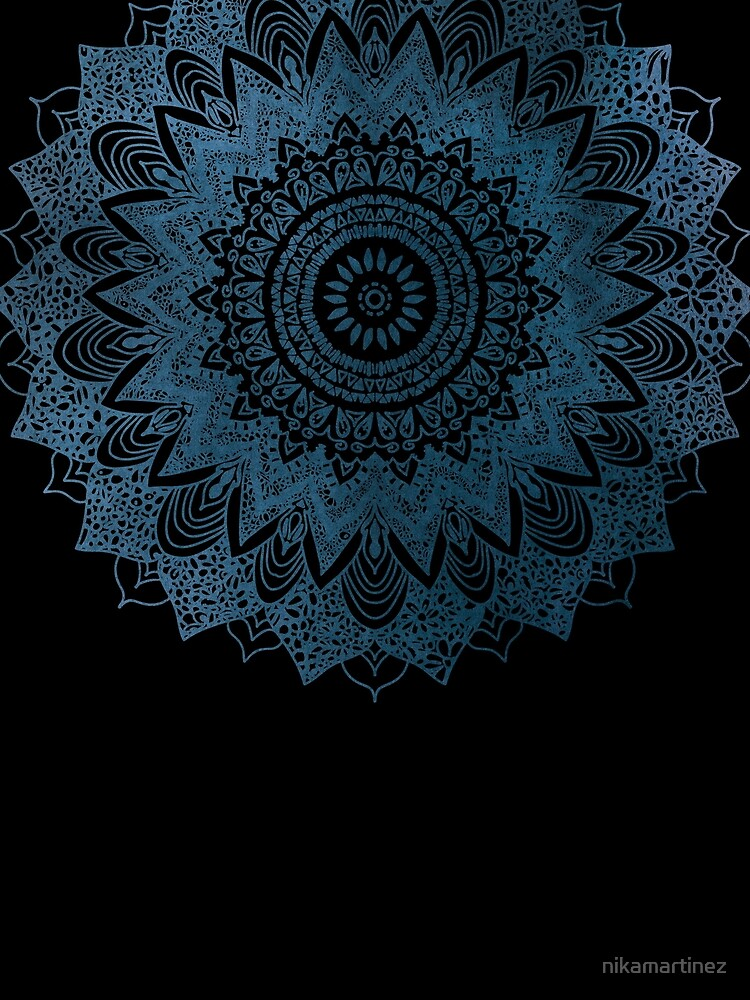 BOHOCHIC MANDALA IN BLUE by nikamartinez
