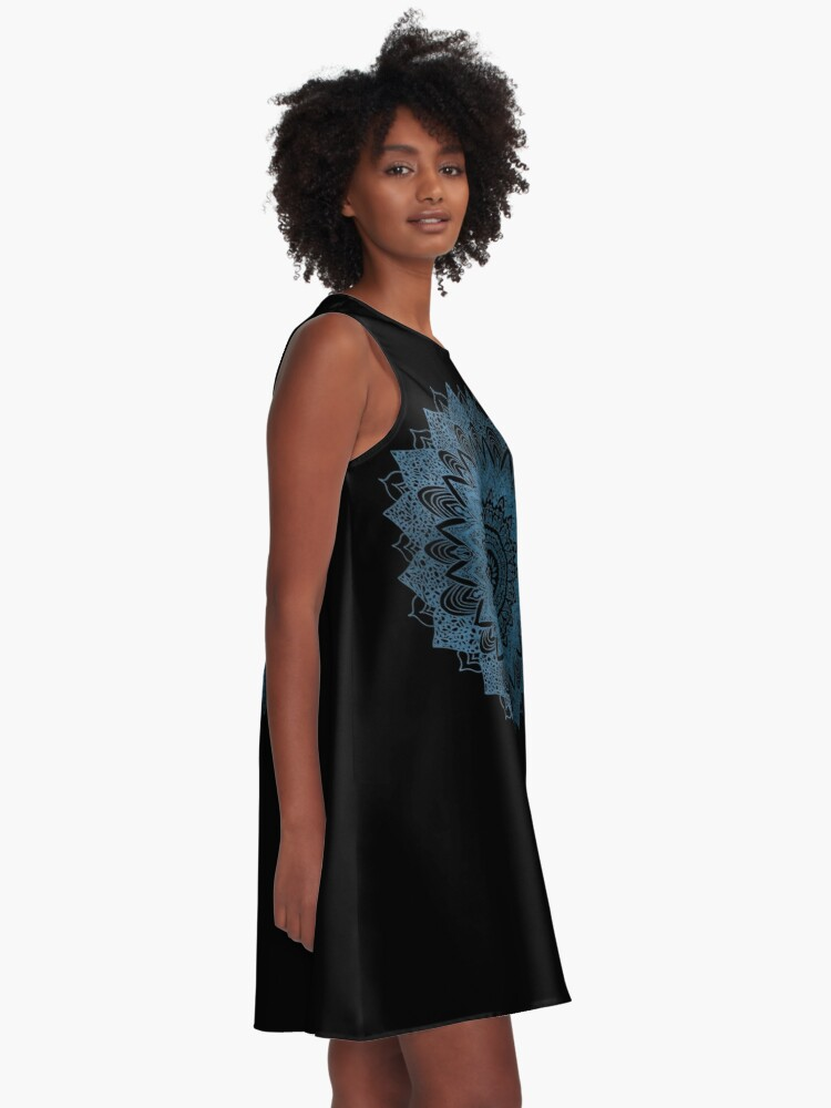 Alternate view of BOHOCHIC MANDALA IN BLUE A-Line Dress