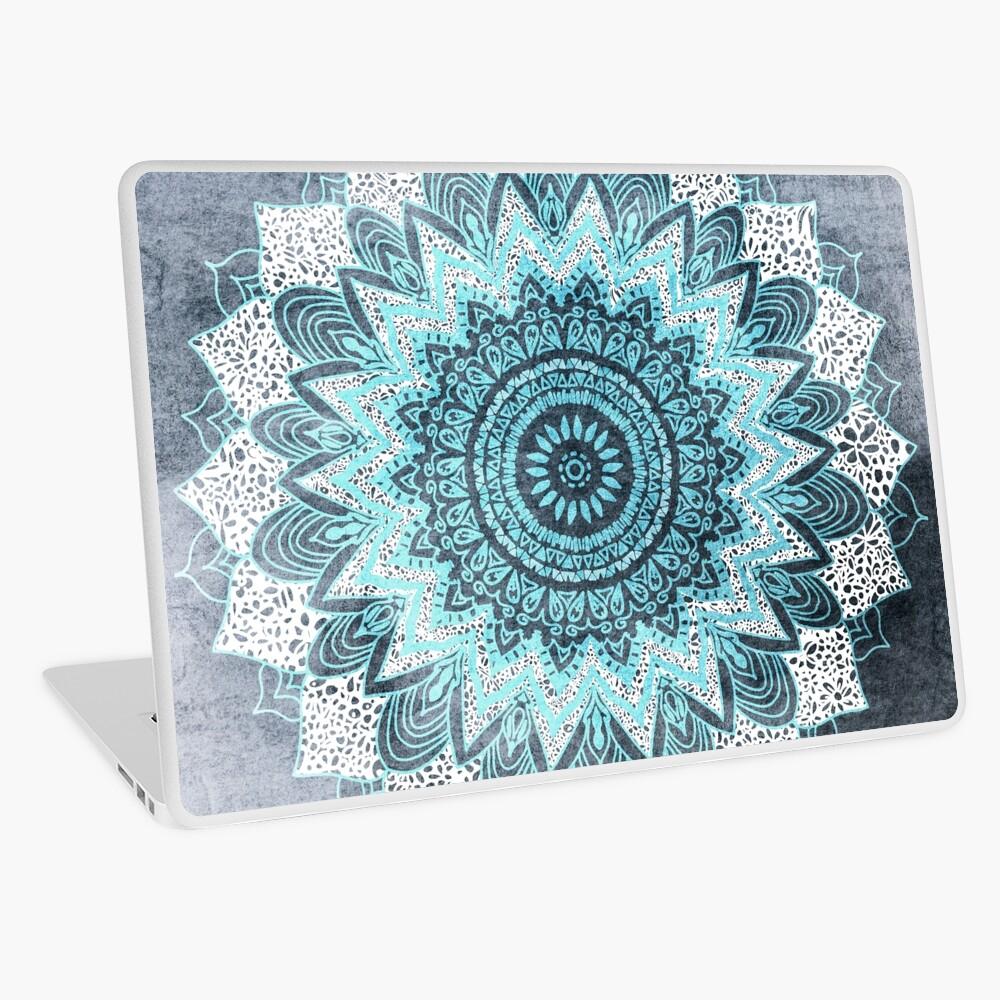 BOHOCHIC MANDALA IN BLUE Laptop Skin