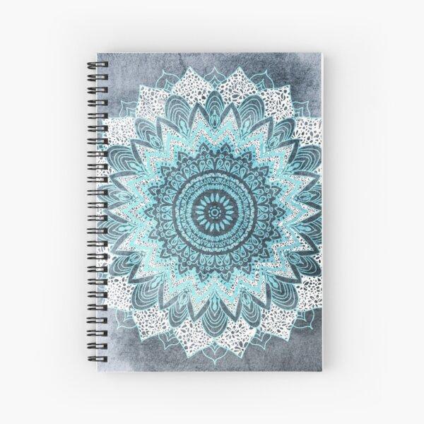 BOHOCHIC MANDALA IN BLUE Spiral Notebook