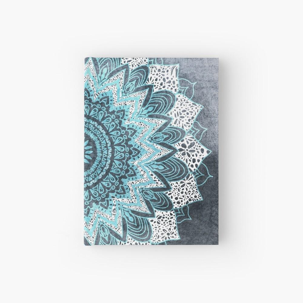 BOHOCHIC MANDALA IN BLUE Hardcover Journal