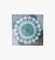 BOHOCHIC MANDALA IN BLUE Art Board