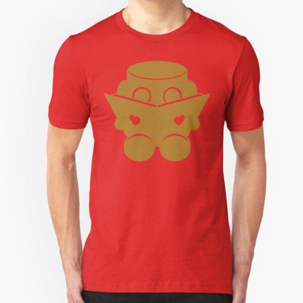 O'BOT: Love a Book (Gold) 1.0 Slim Fit T-Shirt