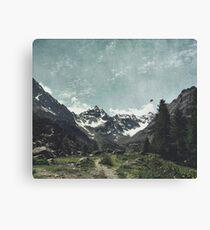 High Valley  Italian Alps Canvas Print