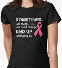 Breast Cancer Awareness Shirt  Womens Fitted T-Shirt