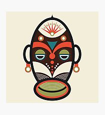 Traditional African Ethnic Mask Photographic Print