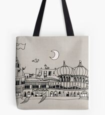 Boardwalk at Night Tote Bag