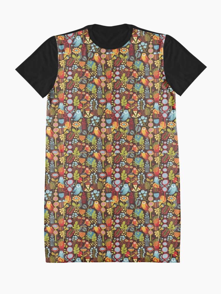 Alternate view of Owly Graphic T-Shirt Dress