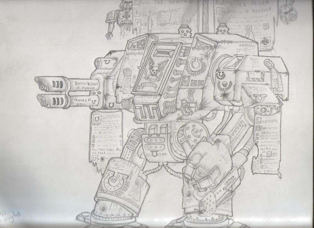 Space Marine Dreadnought by RadTastiC