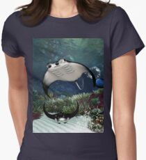 Awesome manta Women's Fitted T-Shirt