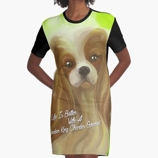 Cavalier King Charles Spaniel Dog Gifts Graphic T-Shirt Dress
