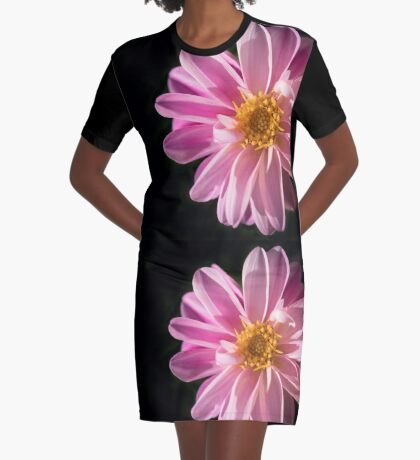 Sunshine on a Perfect Dahlia Graphic T-Shirt Dress