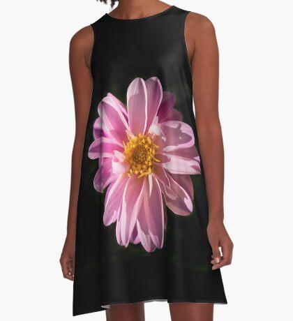 Sunshine on a Perfect Dahlia A-Line Dress