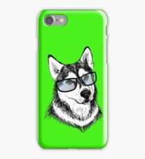 Fashionable dog with glasses iPhone Case/Skin
