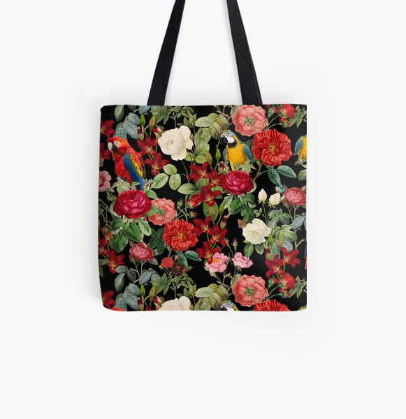 Tropical Pattern All Over Print Tote Bag