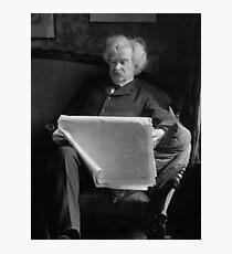 Mark Twain - American Author and Humorist  Photographic Print