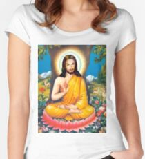 buddha christ Women's Fitted Scoop T-Shirt