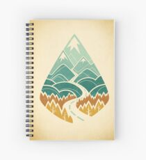The Road Goes Ever On: Autumn Spiral Notebook