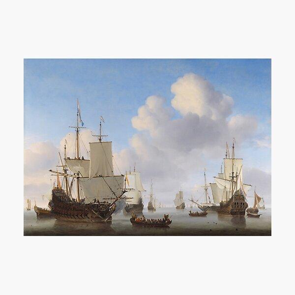 Dutch Ships In A Calm Photographic Print