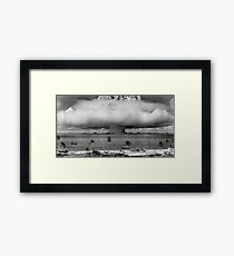 Nuclear Weapon Test - Bikini Atoll  Framed Print
