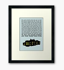 Agatha Christie: And Then There Were None (Light Green) Framed Print