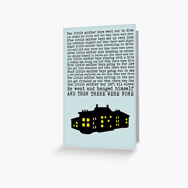 Agatha Christie: And Then There Were None (Light Green) Greeting Card