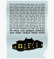 Agatha Christie: Und dann gab es keine (hellgrün) Poster