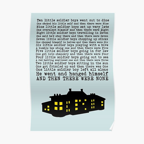 Agatha Christie: And Then There Were None (Light Green) Poster