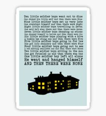 Agatha Christie: And Then There Were None (Light Green) Sticker